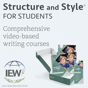 Structure and style for students comprehensive video-based writing courses from IEW
