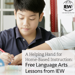 A helping hand for home-based instruction: Free Language Arts lessons from IEW