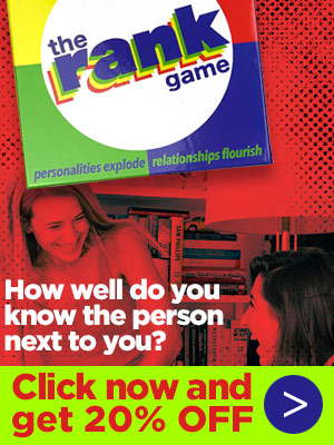 The Rank Game: How well do you know the person next to you? Click now and get 20% off!